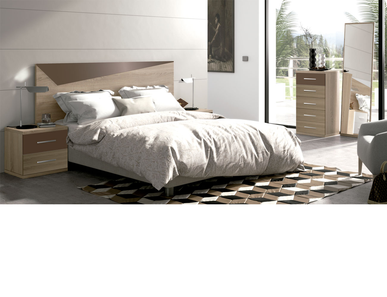 Dormitorio matrimonio moderno 21 cambrian chocolate