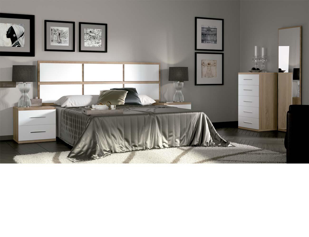 Dormitorio matrimonio moderno 32 cambrian blanco