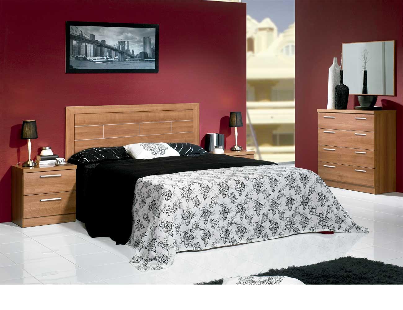 Dormitorio matrimonio moderno 35 walnut