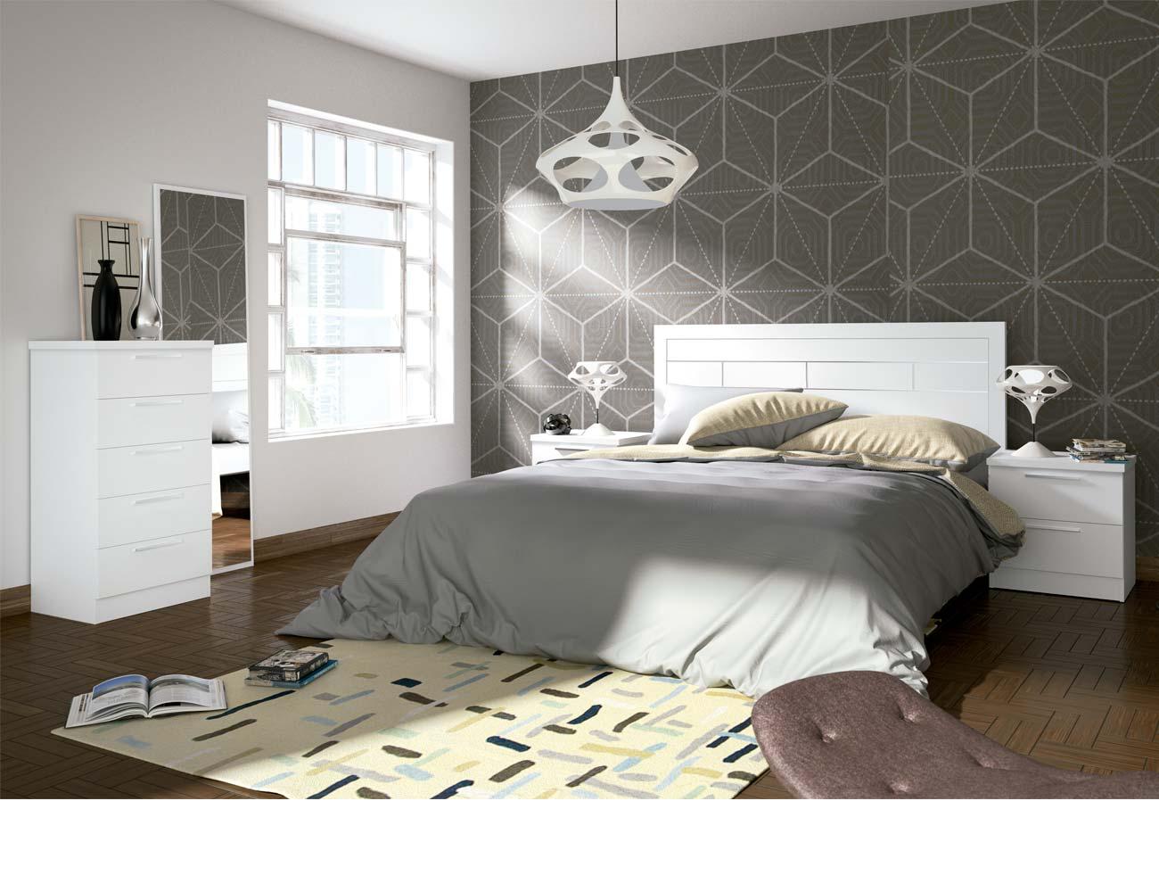 Dormitorio matrimonio moderno 36 blanco