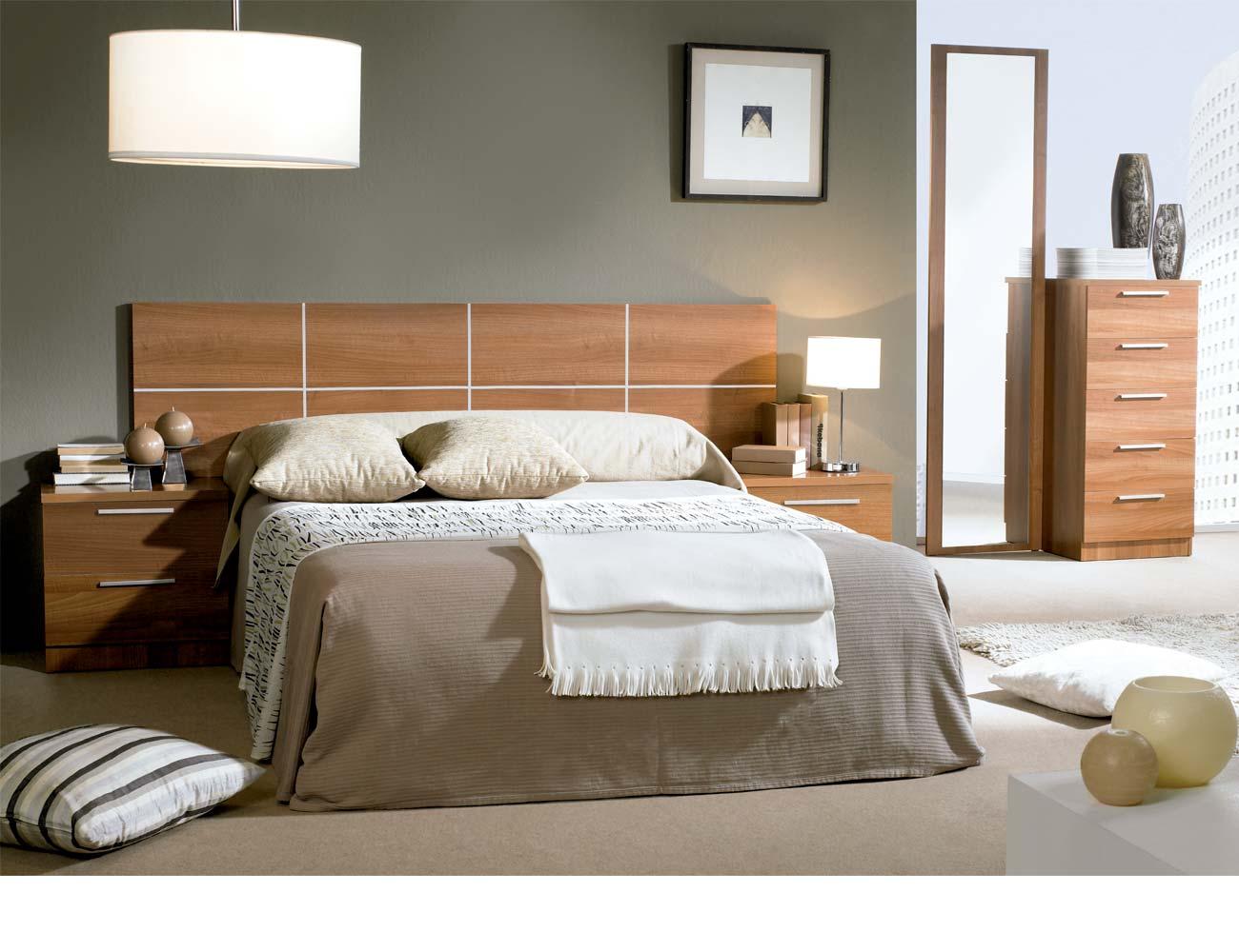 Dormitorio matrimonio moderno 37 walnut