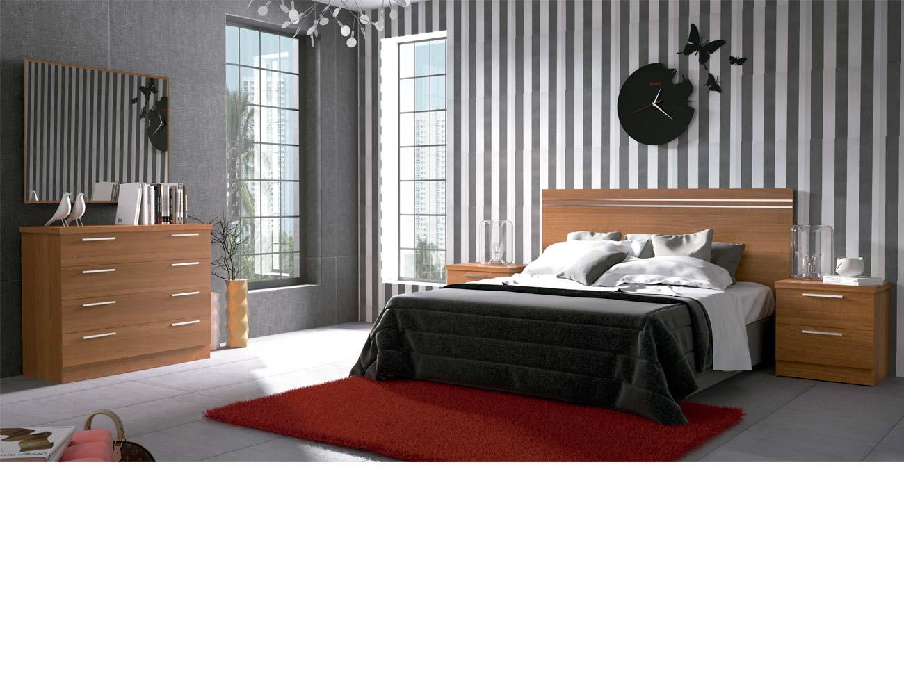 Dormitorio matrimonio moderno 40 walnut
