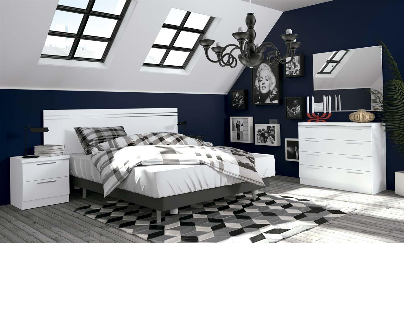 Dormitorio matrimonio moderno 42 blanco