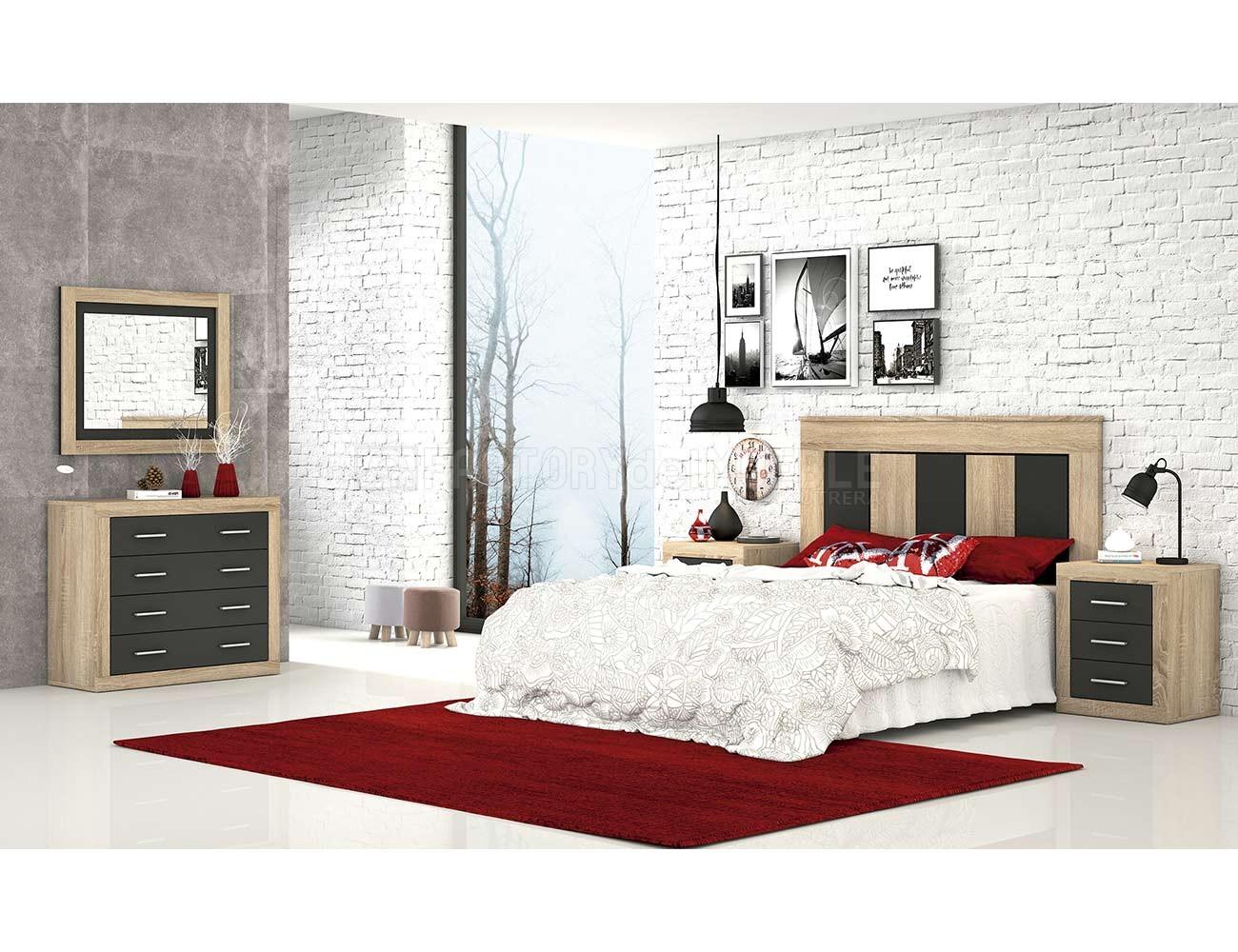 Dormitorio moderno cambria grafito 4