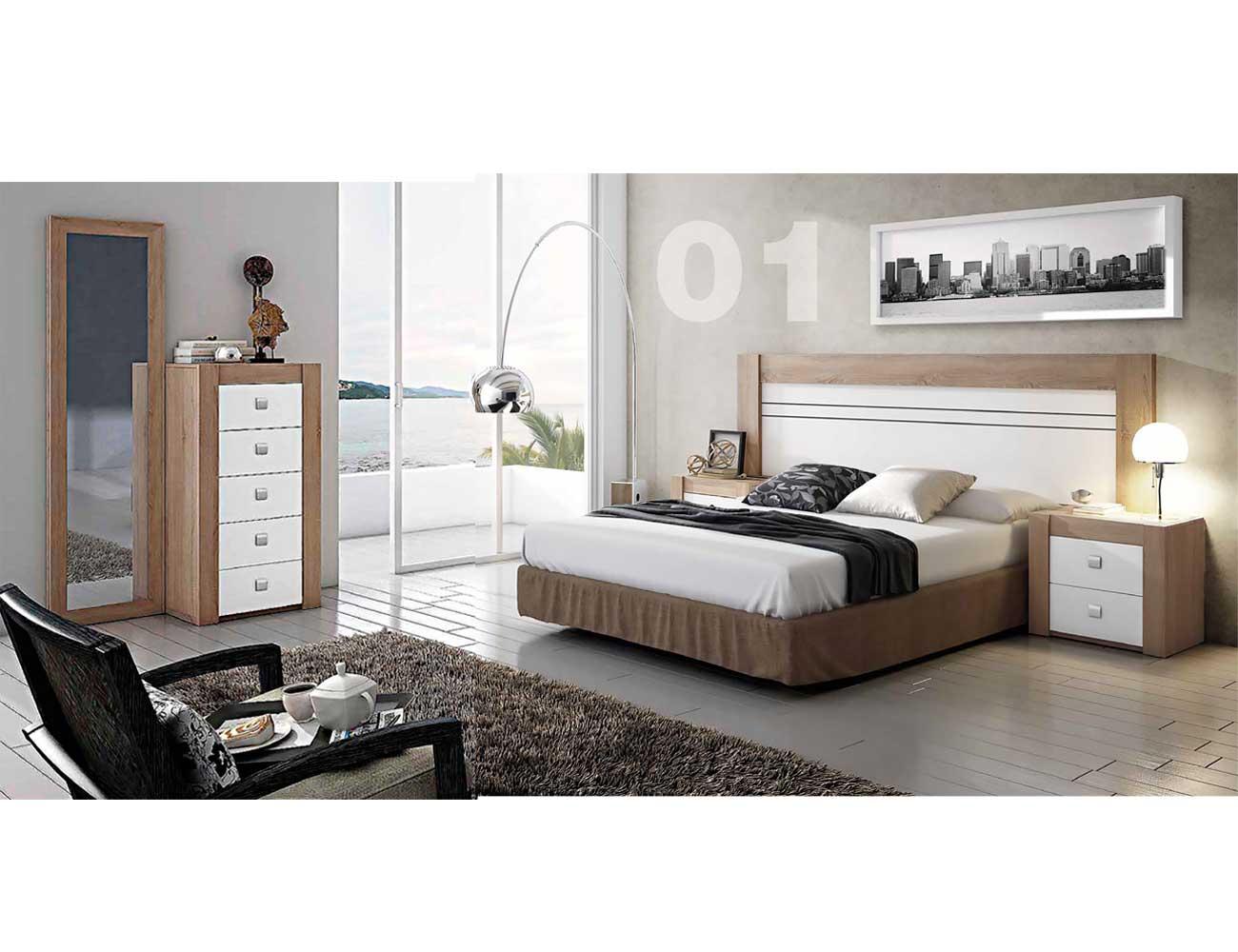 Dormitorio moderno cambrian blanco 02