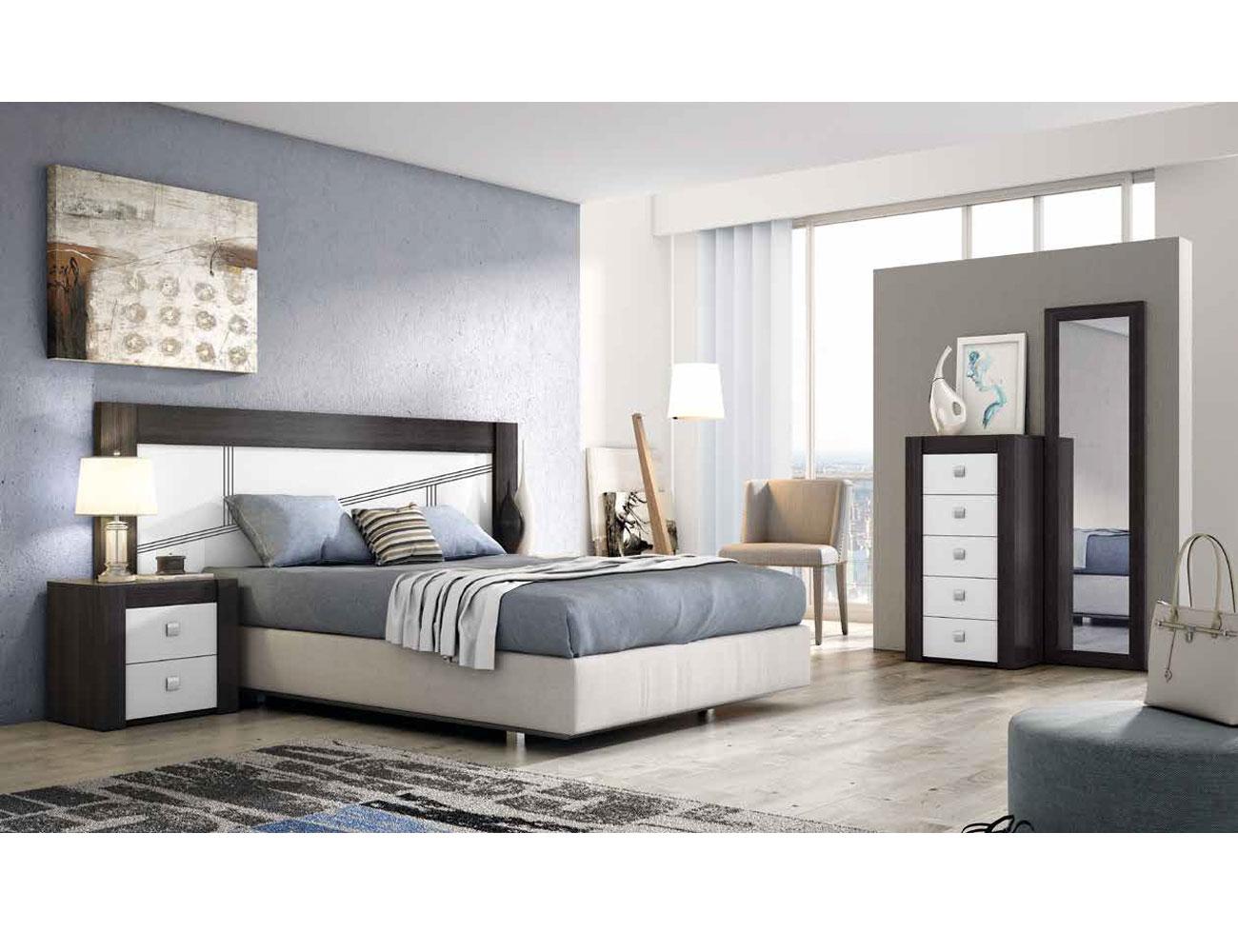 Dormitorio moderno ceniza blanco 04b