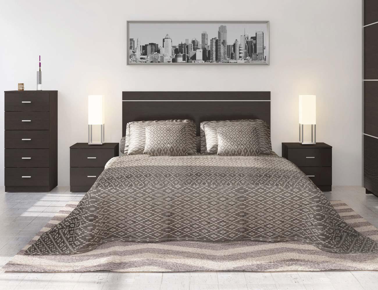 Dormitorio wengue mesita cabecero 701