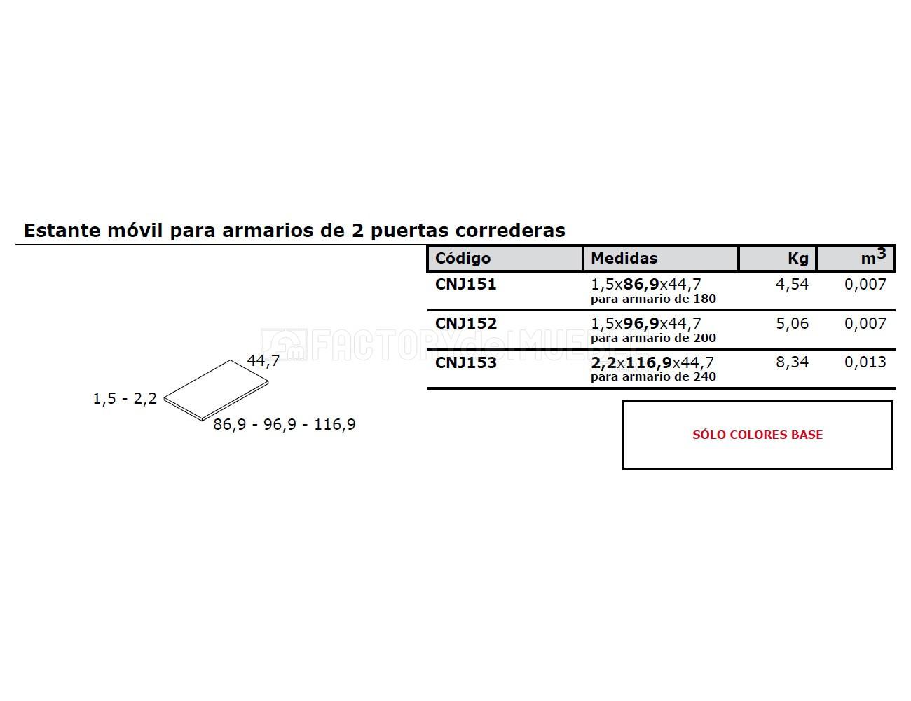 Estante cnj151 152 153