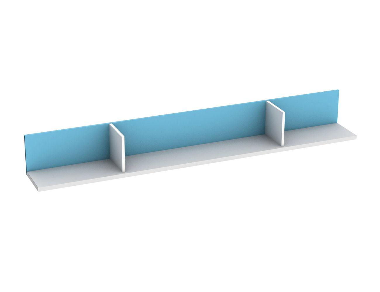 Estanteria horizontal blanca azul 808
