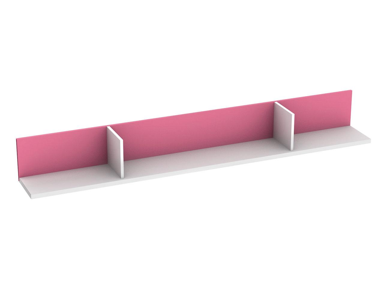 Estanteria horizontal blanca rosa 808