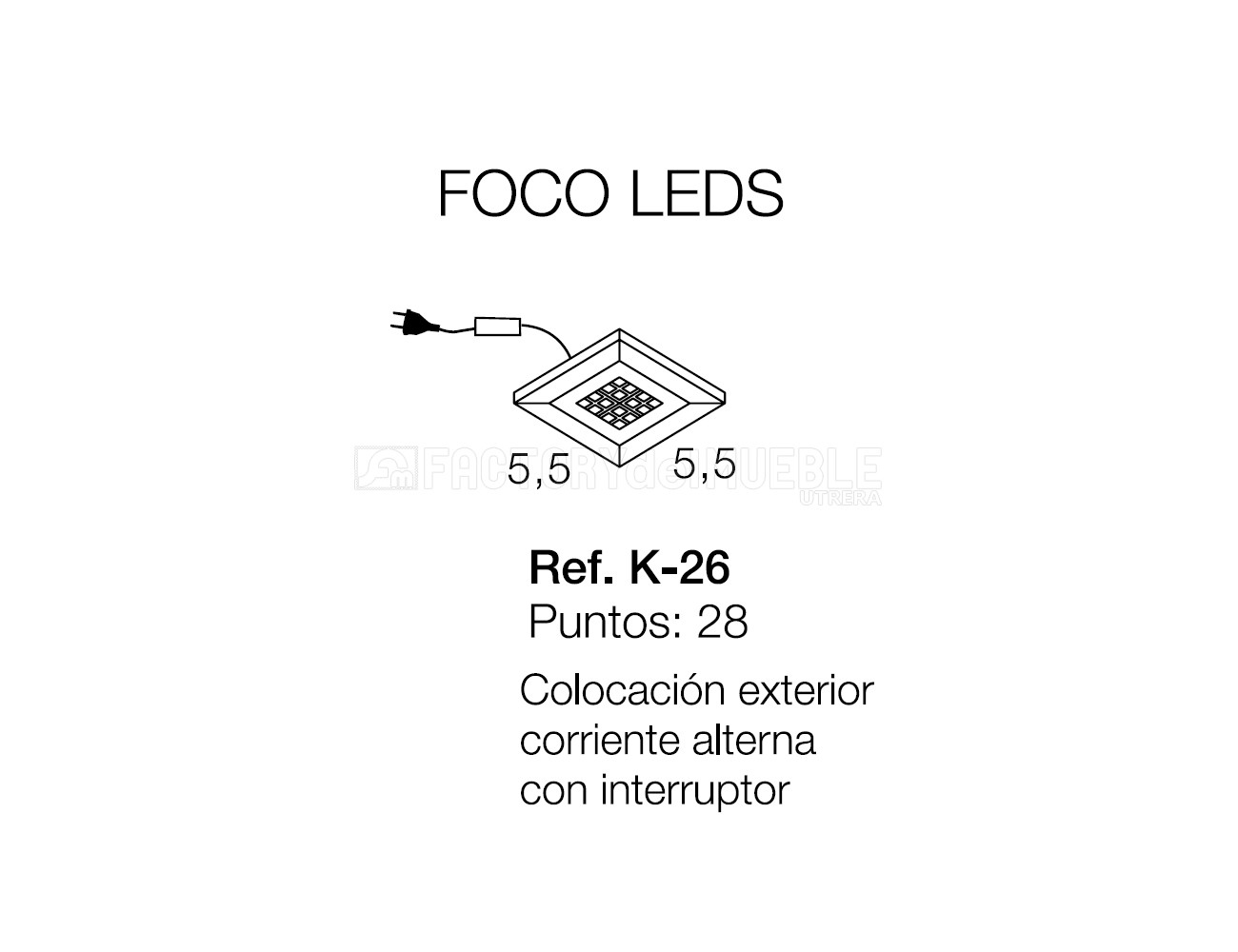 Faco led k 26