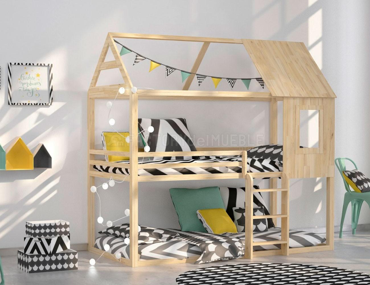 Litera casa madera pino