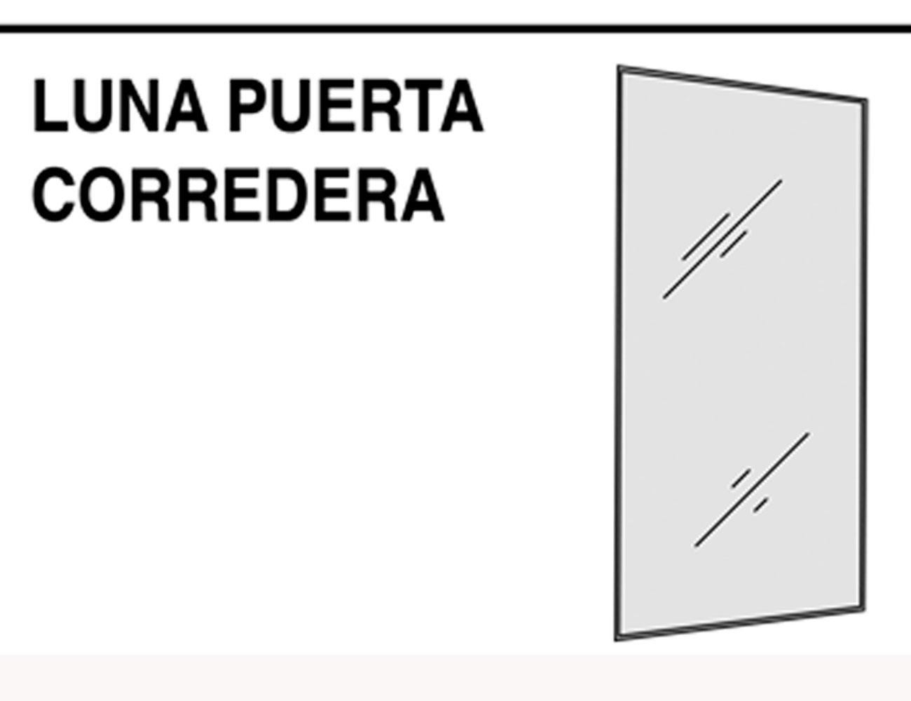 Luna puerta corredera