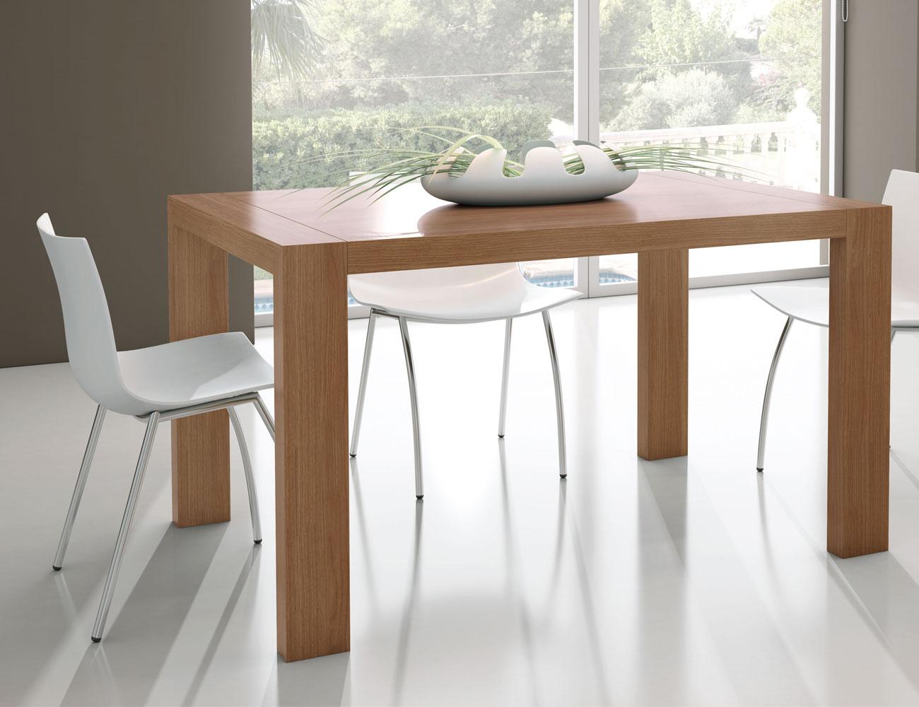 Mesa de comedor extensible rectangular tipo porter a color nogal 9335 factory del mueble utrera - Mesa comedor nogal ...