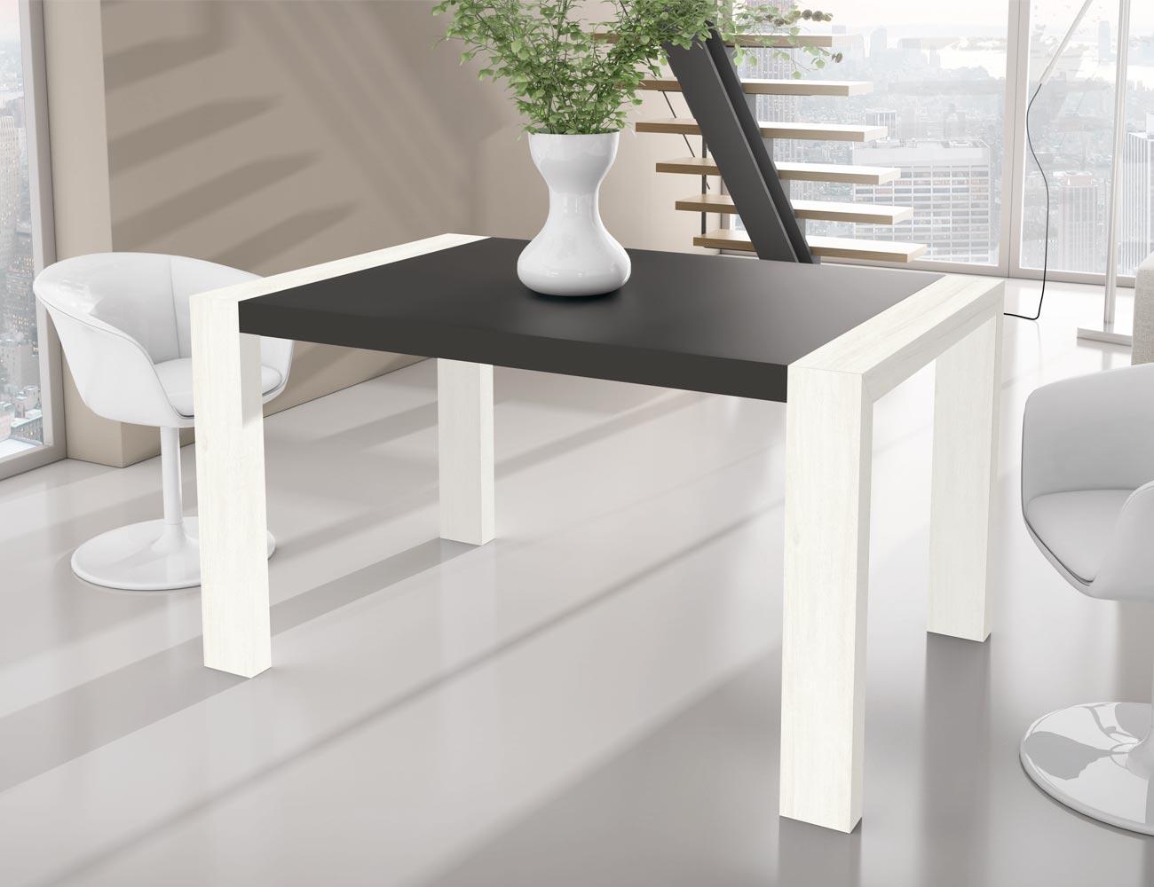 Mesa de comedor extensible rectangular tipo porter a for Mesa rectangular extensible