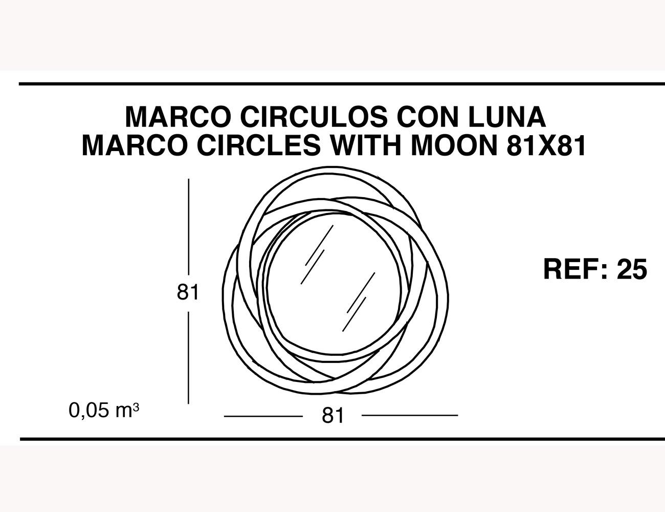 Marco circulos con luna