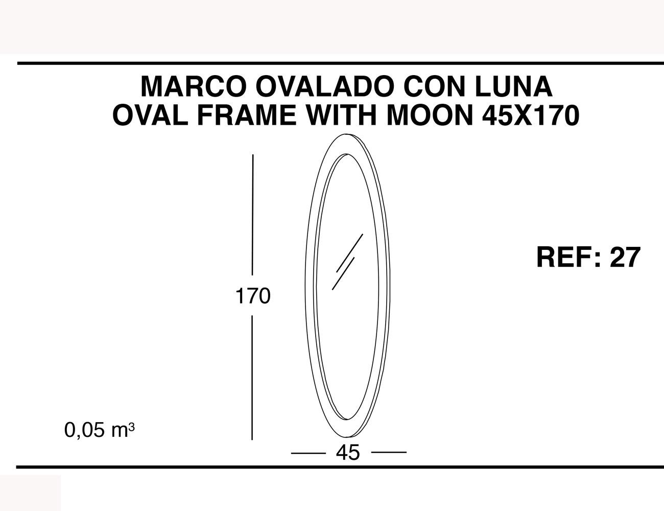 Marco ovalado con luna