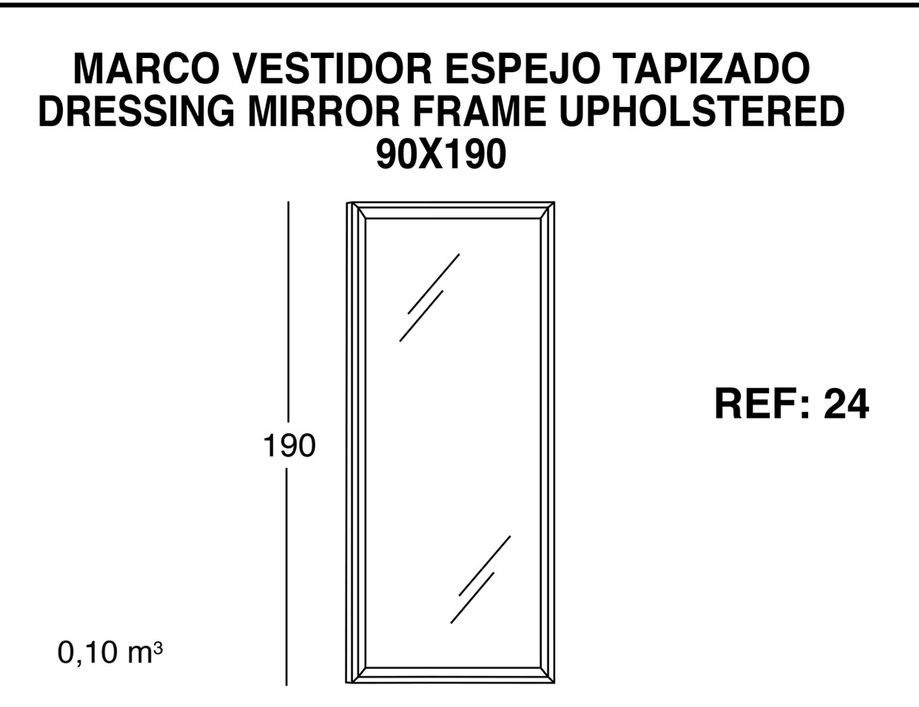 Marco vestidor espejo tapizado