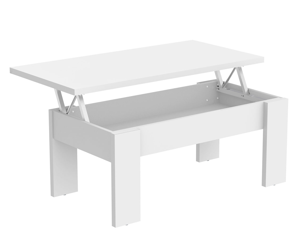 Mesa centro elevable blanco 438