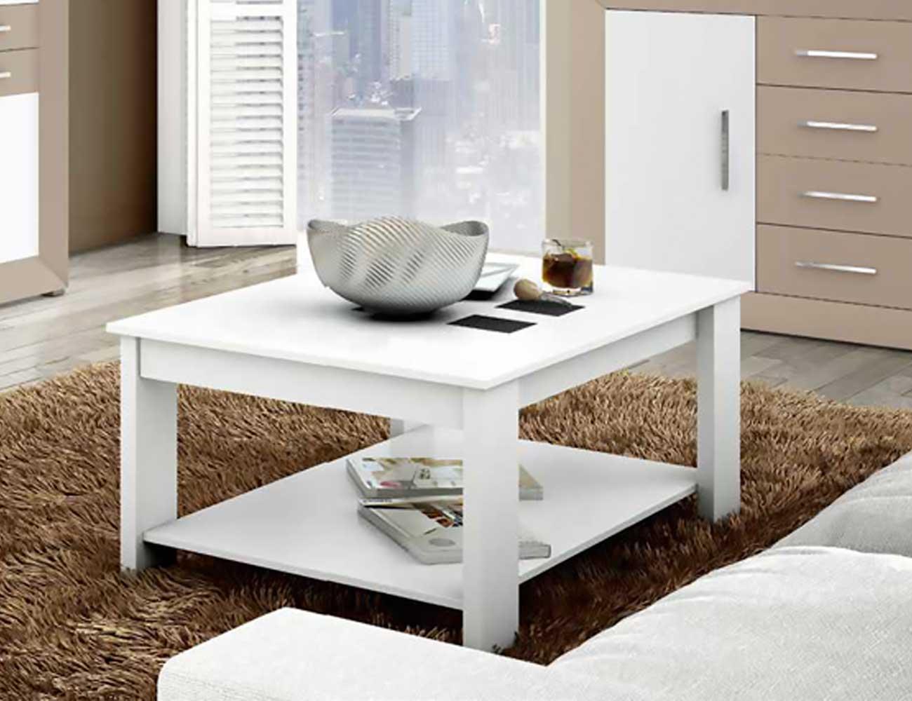 Mueble de sal n moderno blanco con vis n 2428 factory - Salon moderno blanco ...
