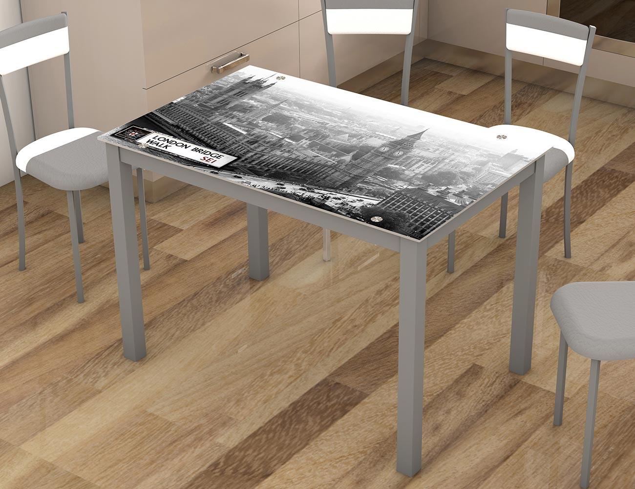 Mesa de cocina con cristal templando London (21476)   Factory del ...