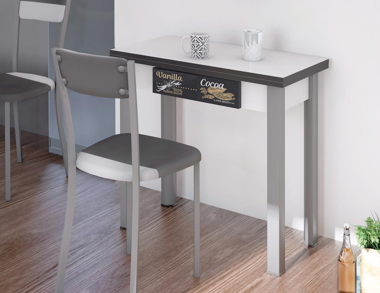 Mesa de cocina extensible tipo libro con caj n 3544 - Mesas libro cocina ...