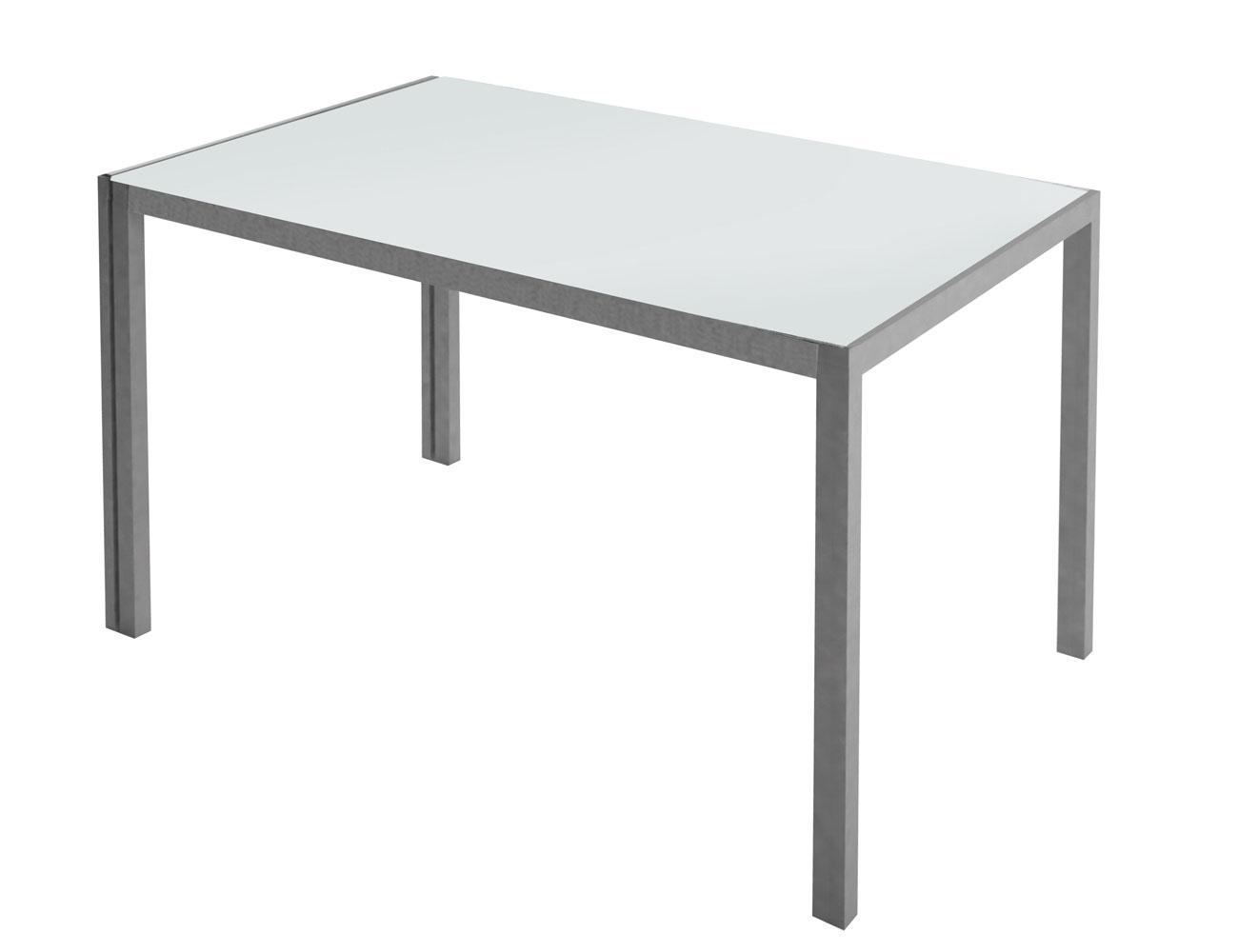 Mesa cocina cristal templado blanco 279 2