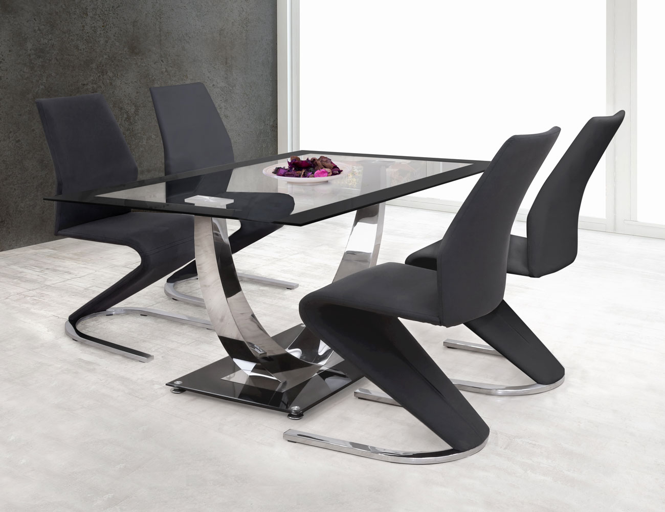 Mesa cocina cristal templado negra 282 3861