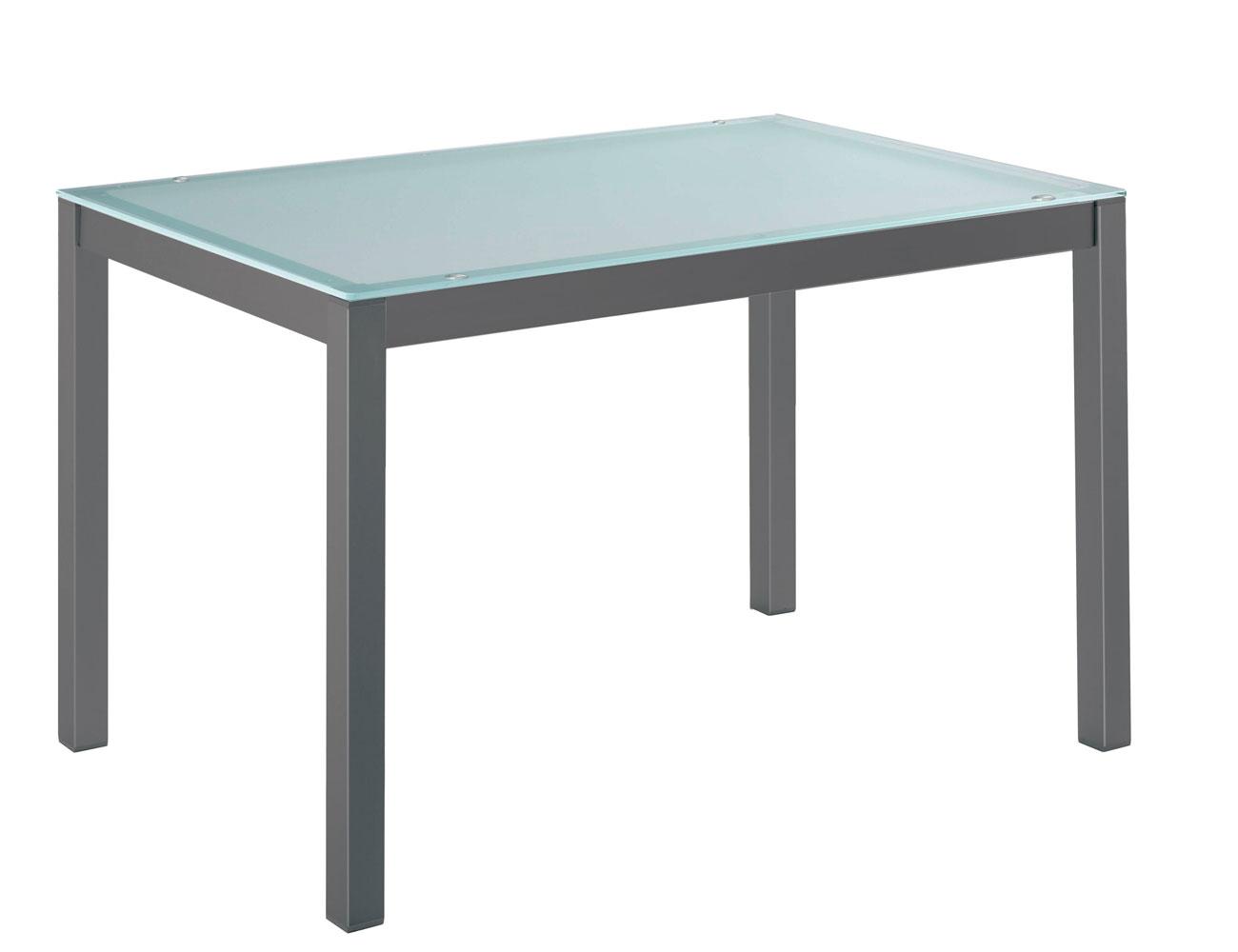 Mesa cocina cristal templado translucido 201