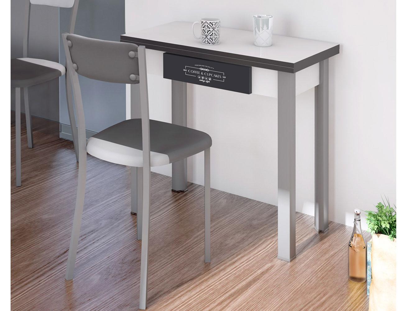Mesa cocina tipo libro blanca 226 2