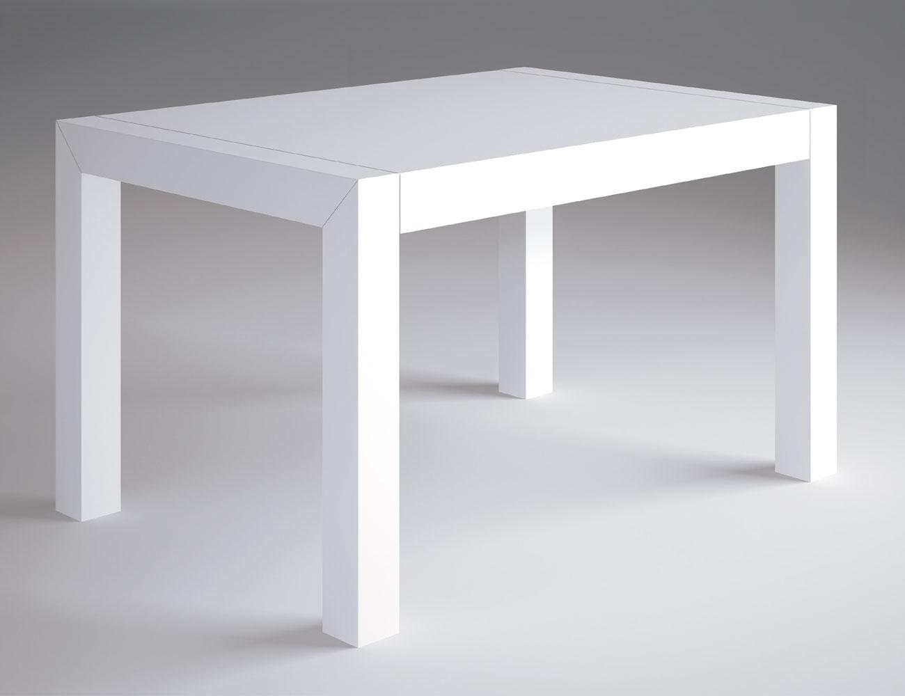 Mesa comedor blanco lacado