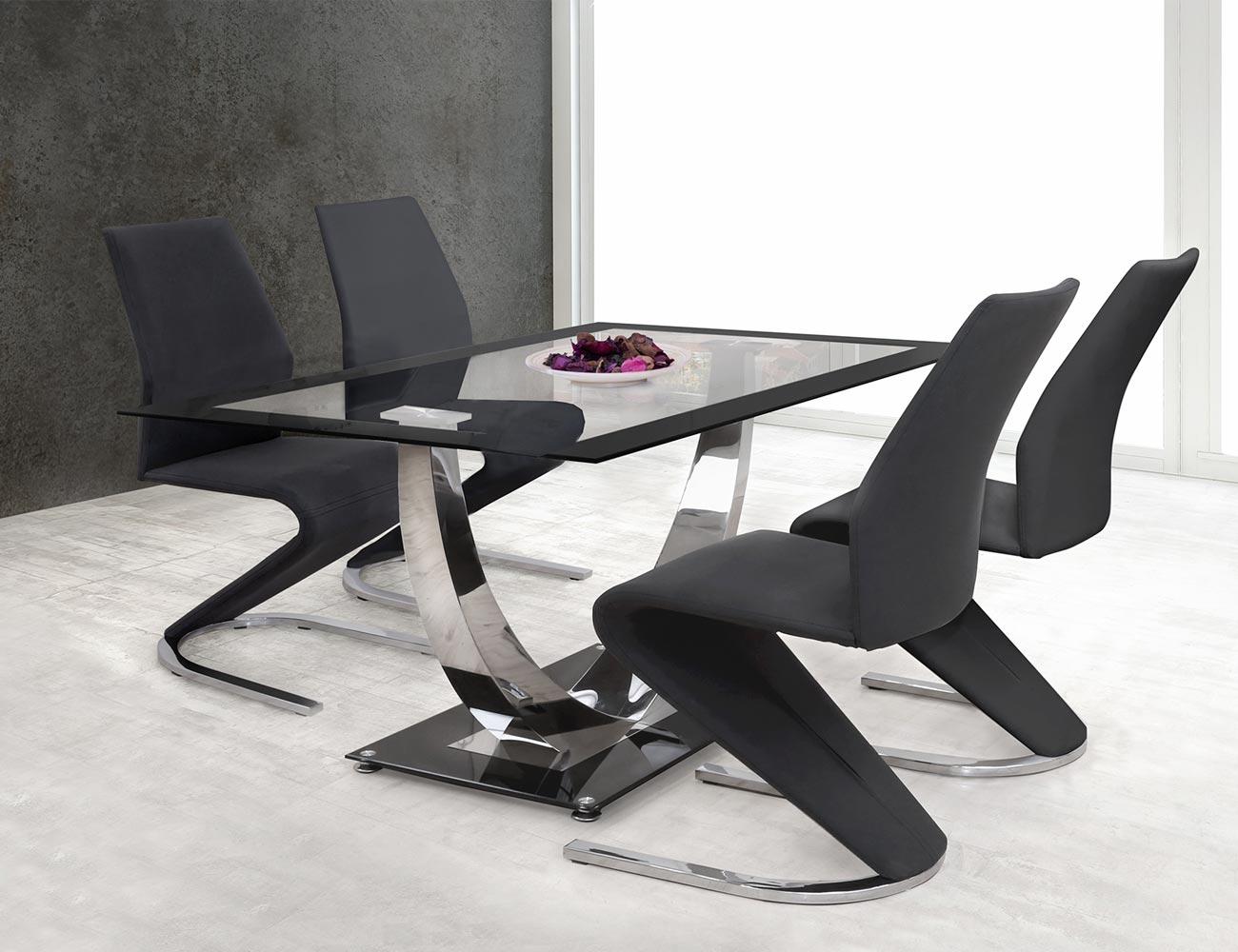 Pack de sillas de comedor tapizada en polipiel color negro con ...