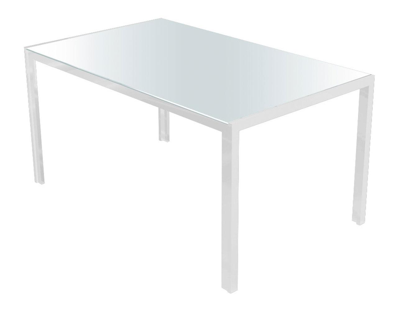 Mesa comedor cristal templado 281 blanca blanca