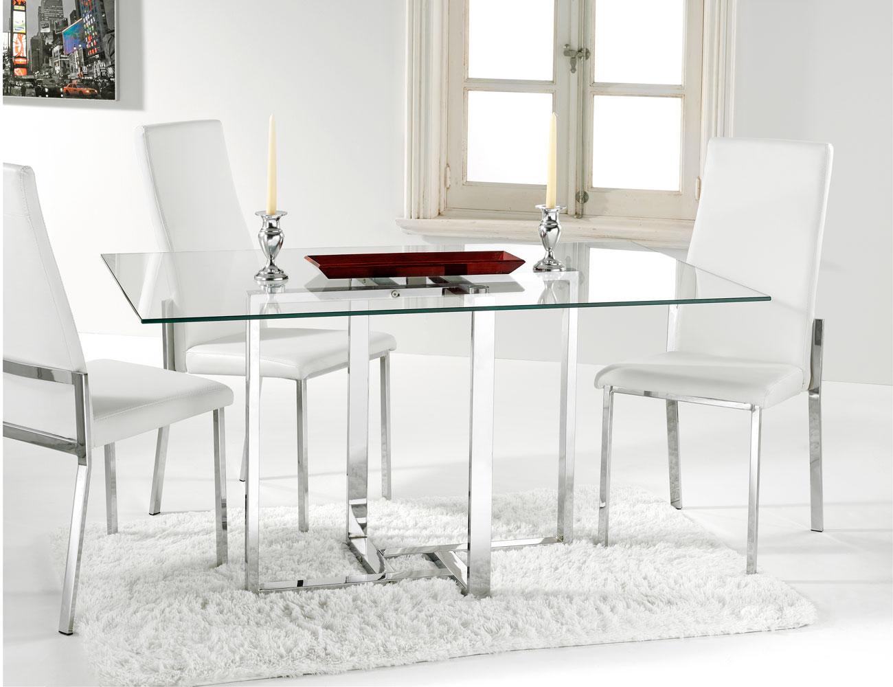 Mesa comedor cristal templado (2386) | Factory del Mueble Utrera