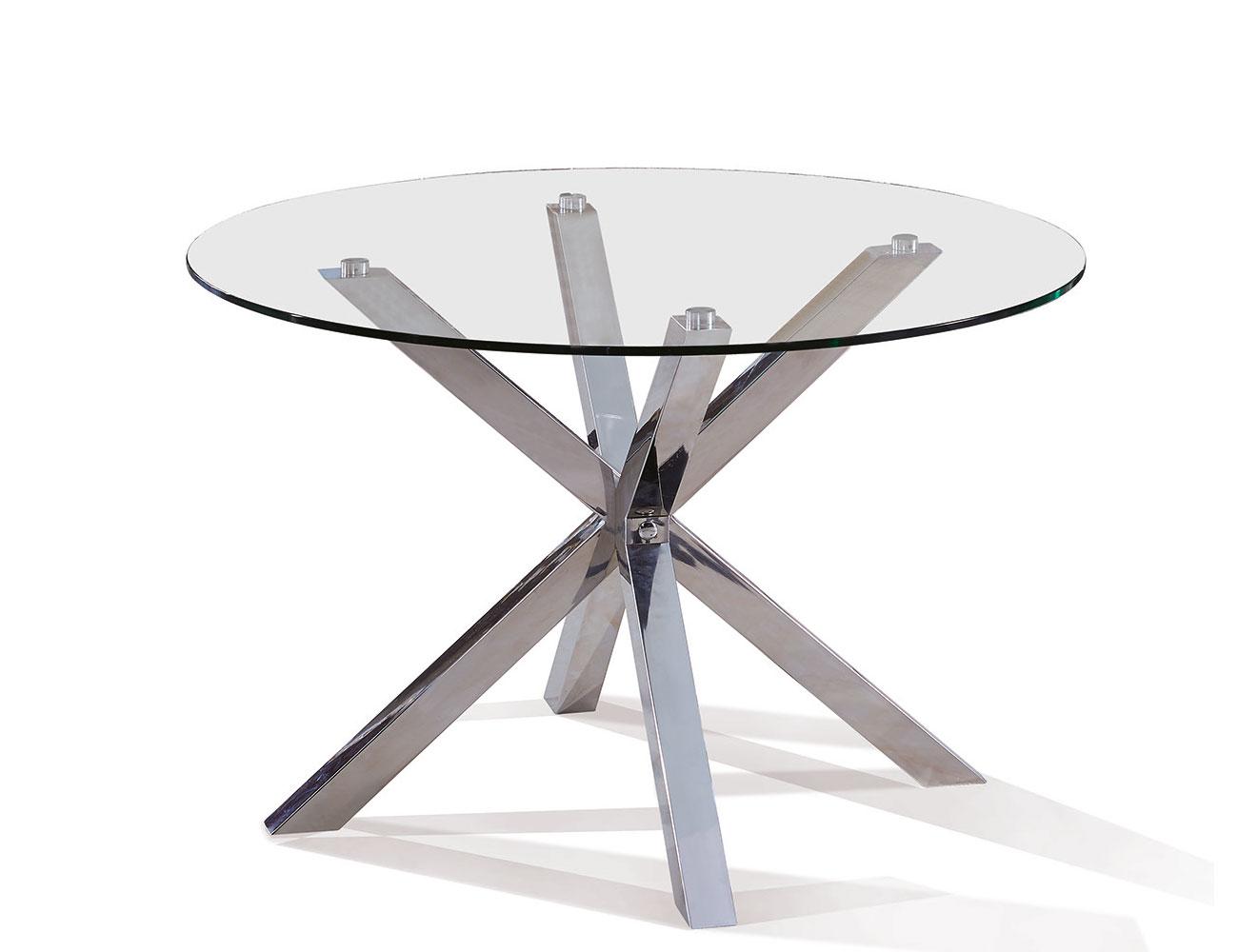 Mesa comedor cristal templado redonda