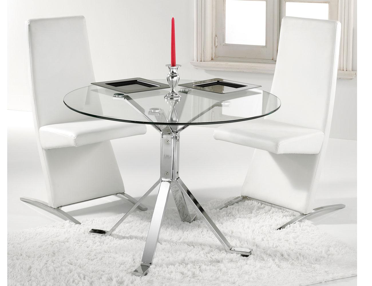 22 genial mesa comedor cristal redonda fotos mesas de - Mesa comedor cristal redonda ...