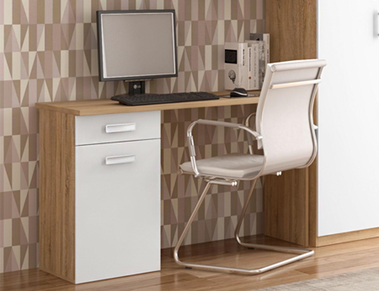 Mesa escritorio cambrian blanco