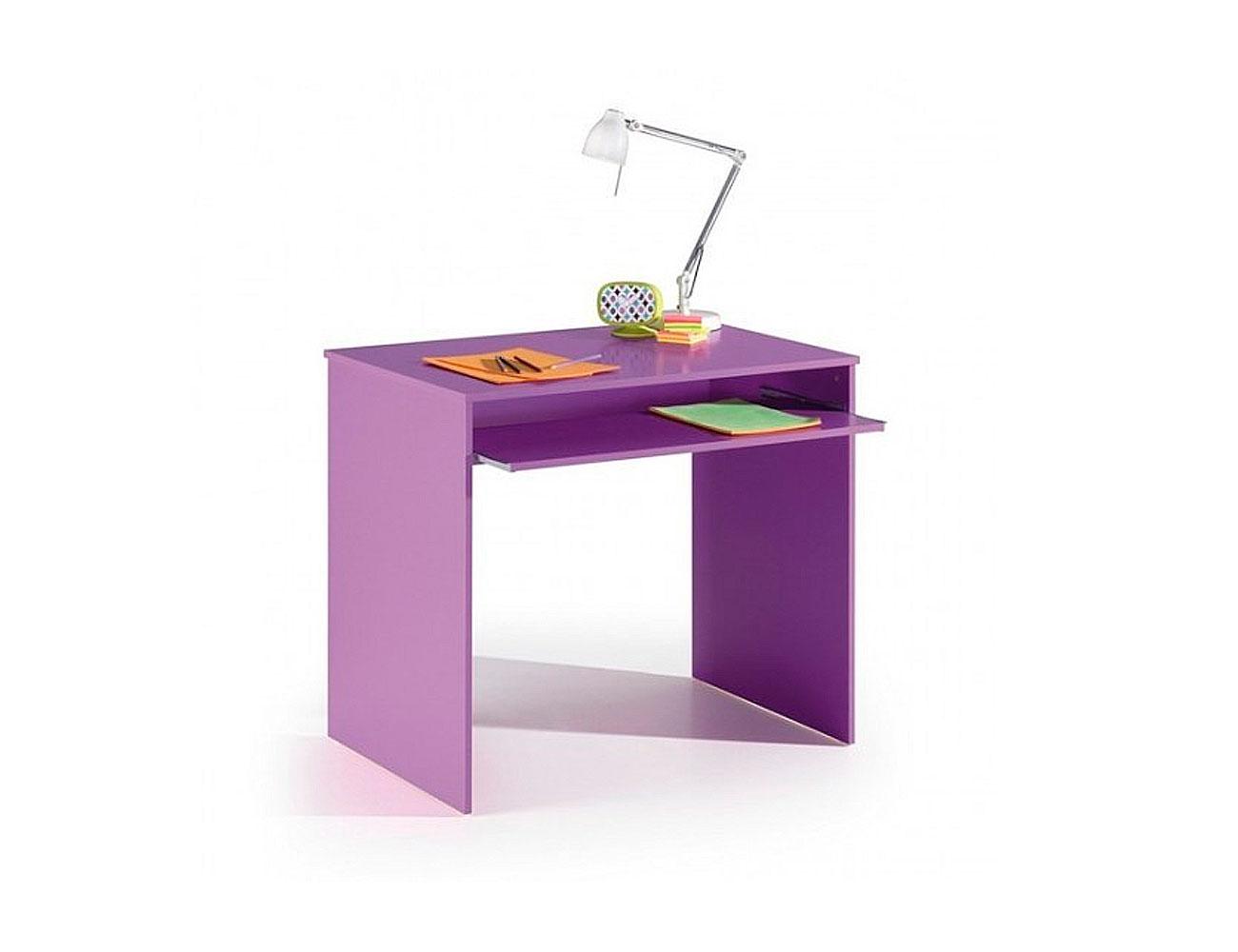 Mesa de estudio y ordenador juvenil en lila factory del - Mesa estudio juvenil ...