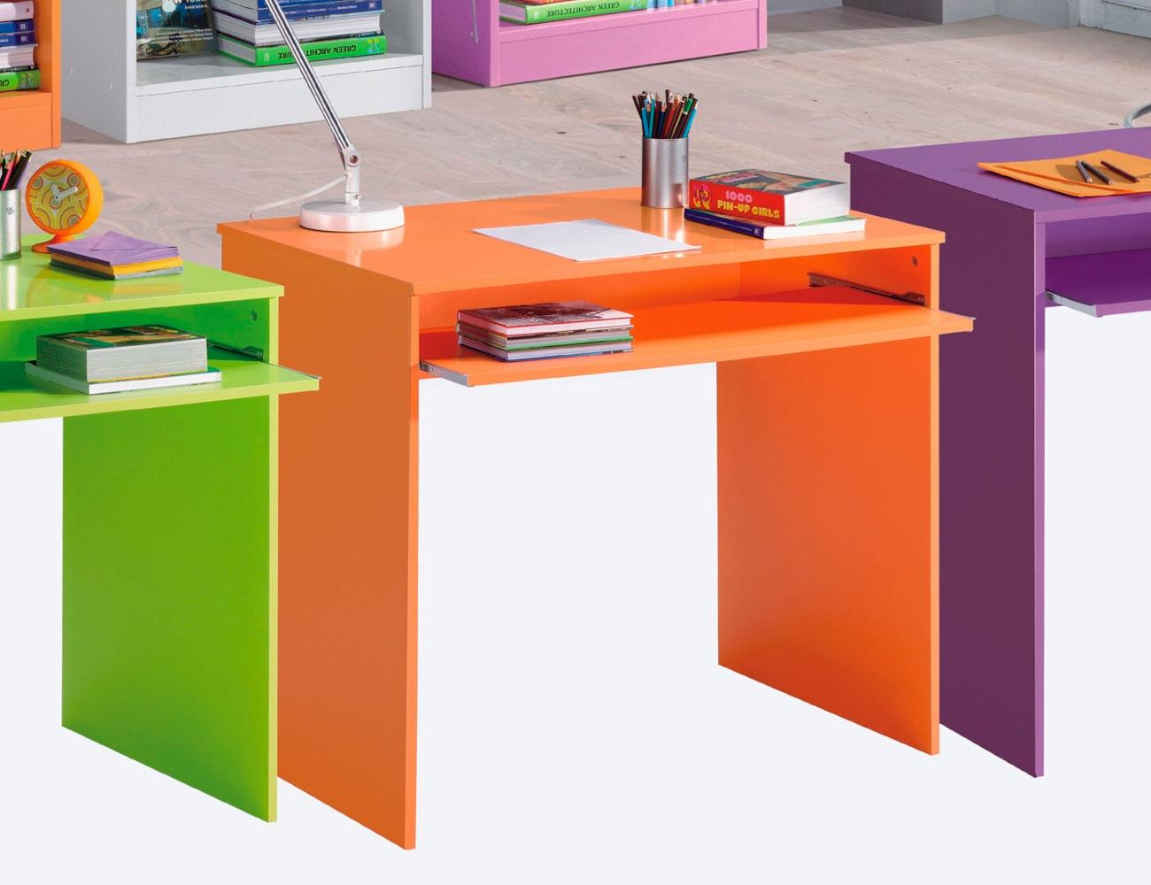 Mesa de estudio y ordenador juvenil en naranja factory - Mesa estudio juvenil ...
