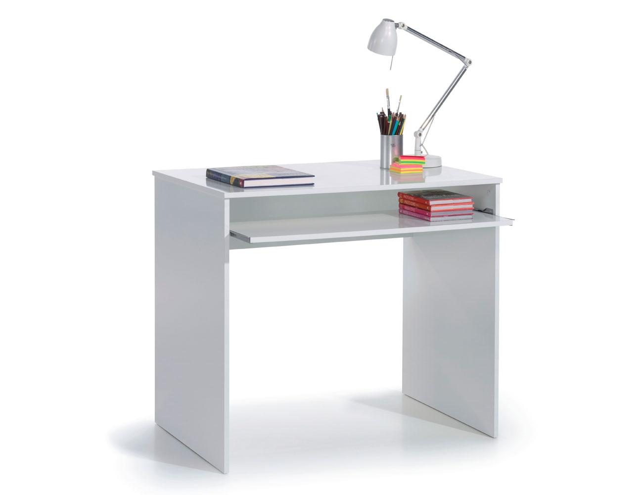 Mesa pc escritorio blanco barata