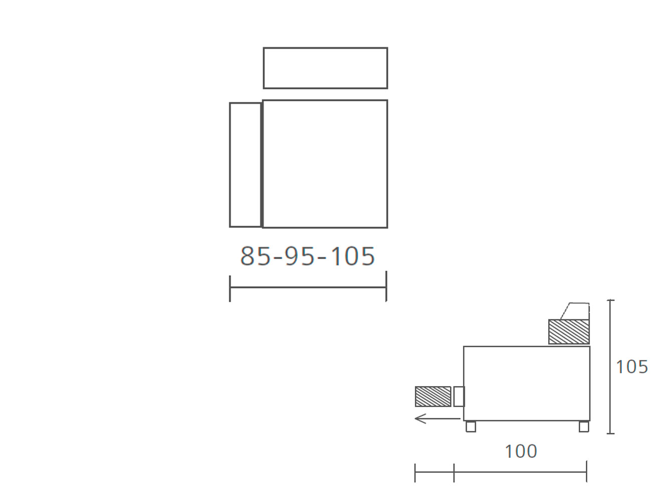 Modulo 1 plaza 1 brazo 85 95 1055
