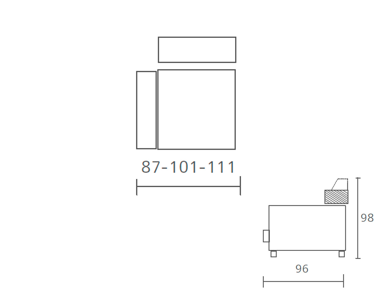 Modulo 1 plaza 1 brazo fijo 87 101 1113