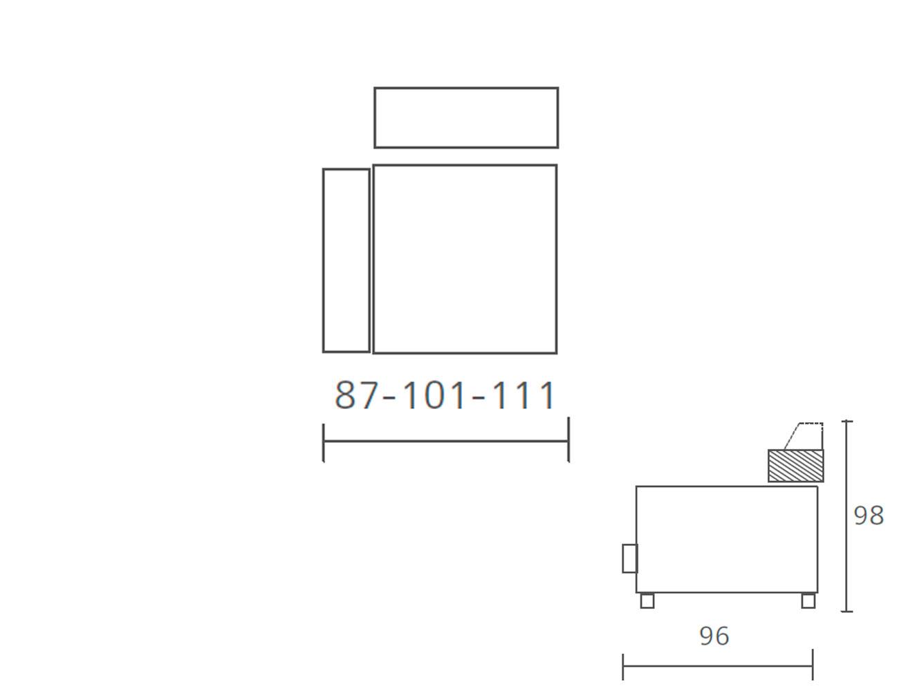 Modulo 1 plaza 1 brazo fijo 87 101 1118