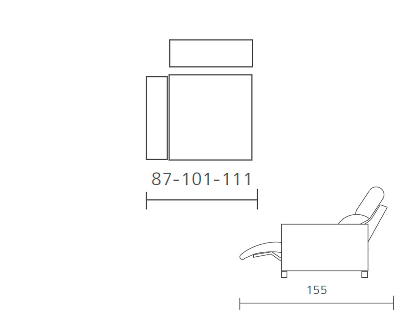 Modulo 1 plaza 1 brazo relax motor 87 101 1118