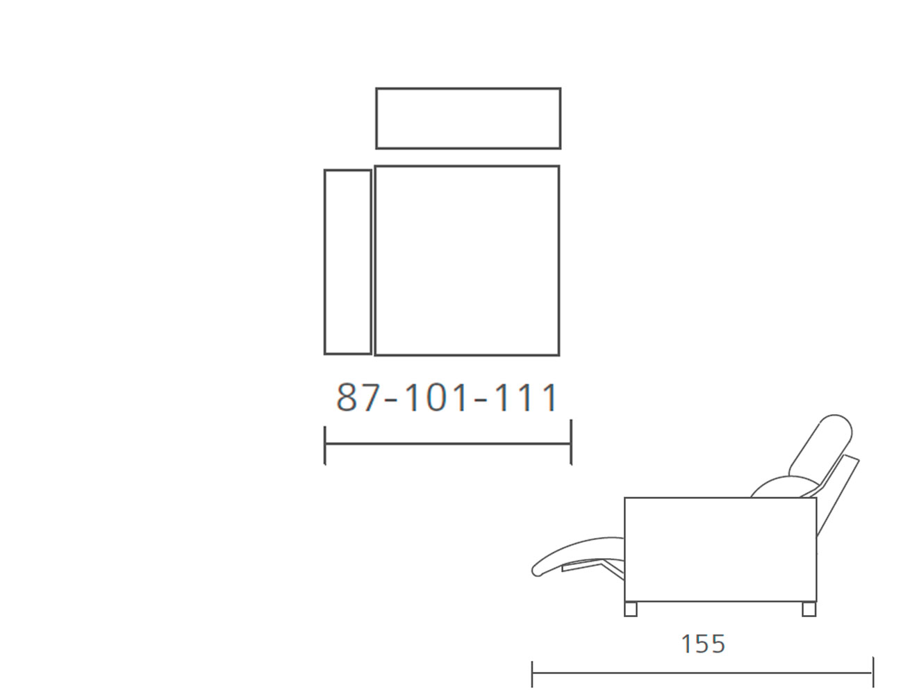 Modulo 1 plaza 1 brazo relax motor 87 101 1119