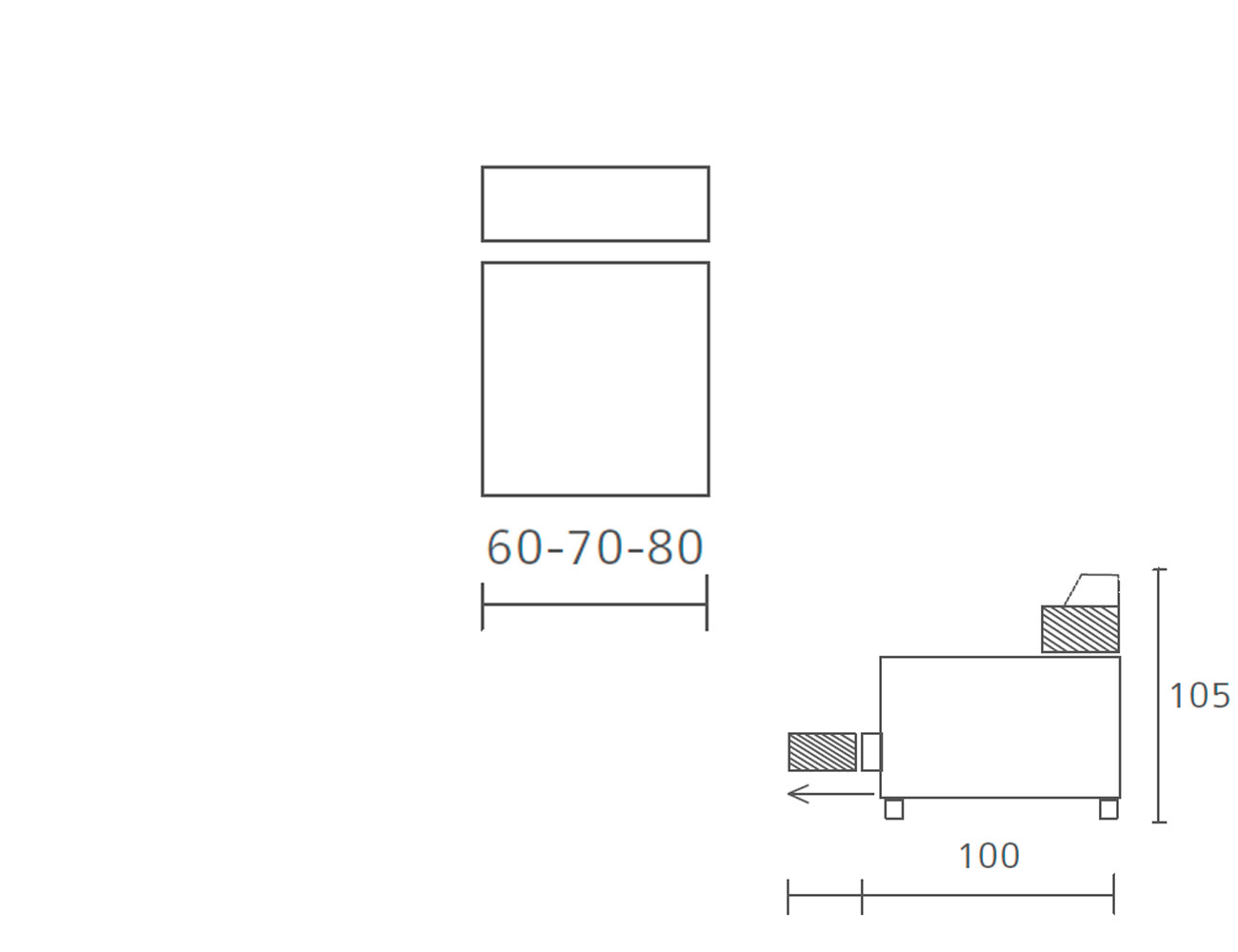 Modulo 1 plaza sin brazos 60 70 80
