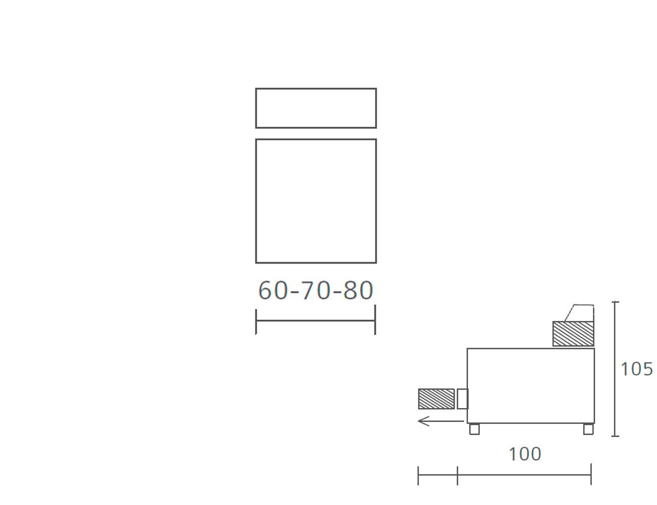 Modulo 1 plaza sin brazos 60 70 8012