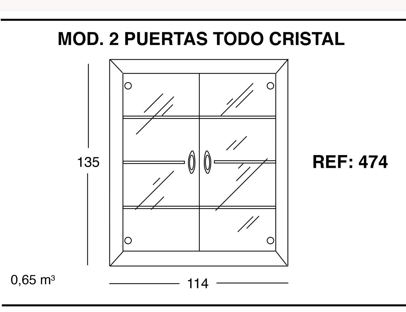 Modulo 2 puertas todo cristal