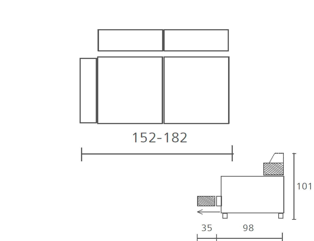 Modulo con 1 brazo 152 1824
