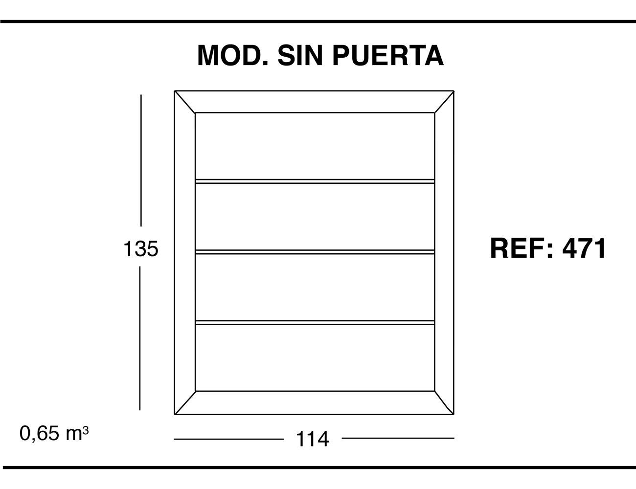 Modulo sin puerta 135 114